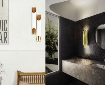 contemporary lighting koket golden sconce feature