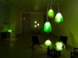 interior design blogs lamps made of algae installation (Copy)