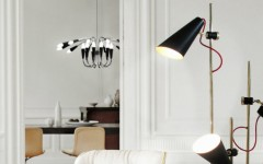 floor lamps Floor Lamps 10 Stilnovo Floor Lamps for the perfect home design delightfull evans 3 lights vintage floor lamp 240x150