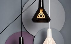 ontemporary lamp shades with twisted filaments . adamchristopherde...