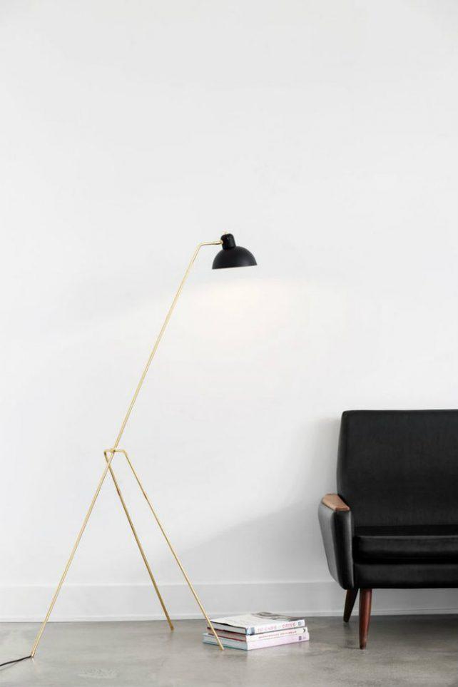 10 Golden Floor-Lamps to Enrich Your Home floor lamps 10 Golden Floor Lamps to Enrich Your Home 7 e1480431142289