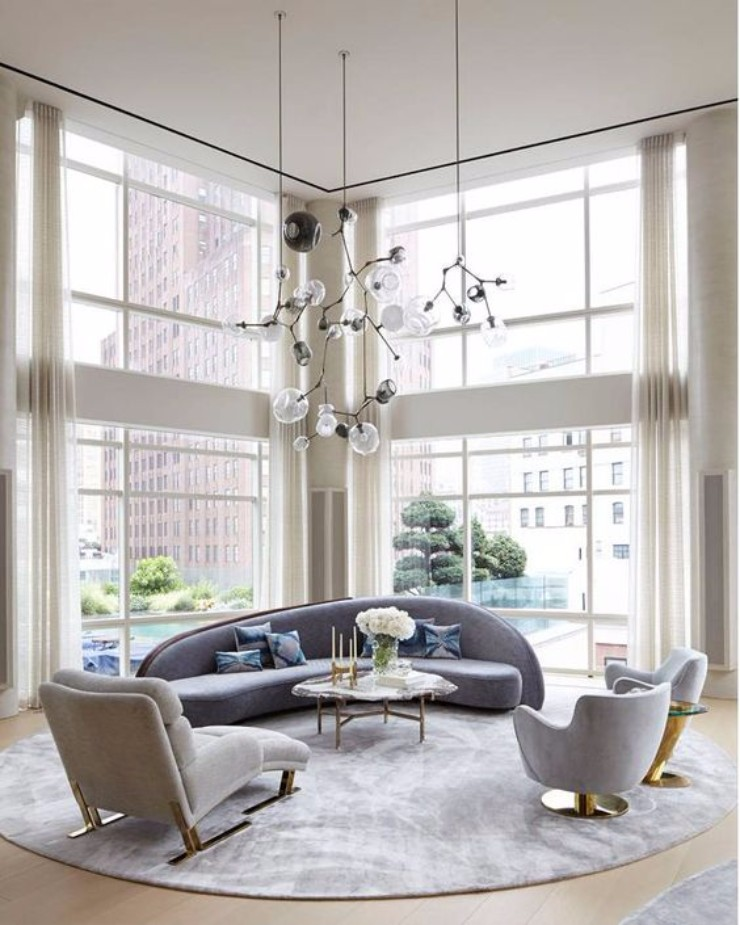 Modern living room decorations with contemporary lighting contemporary
