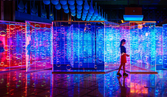 Lighting Deluxe light maze by brut deluxe creates an immersive room in china