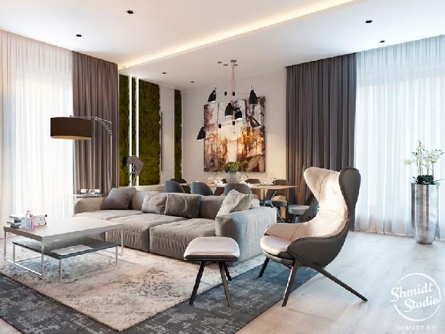Contemporary Designs Bring Light to Living Room in Minsk Contemporary Designs Contemporary Designs Bring Light to Living Room in Minsk Contemporary Designs Bring Light to Living Room in Minsk 3