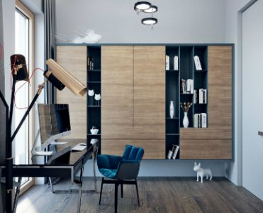 Copper Details in Contemporary Designs Light Up Moscow Apartment