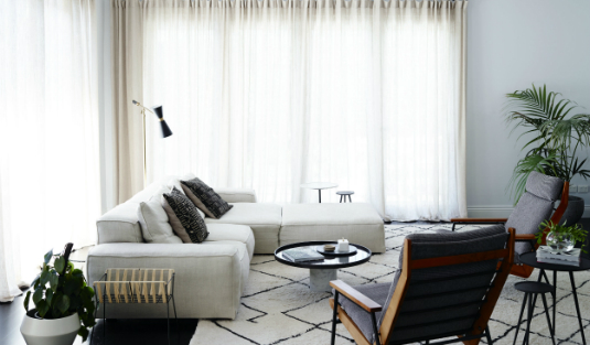 Fabulous Interior Design by Simone Haag with Contemporary Lamps