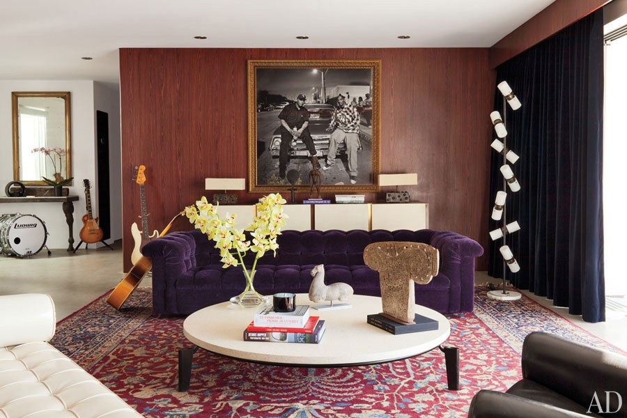 Rock Star Adam Levine's Home is Brimming with Contemporary Lamps!