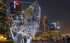 Marina Bay Singapore Gets Lit Up by a 3D Lighting Exhibition