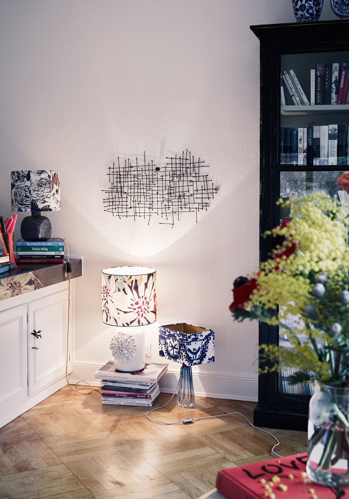 A Boho-Chic Home with Contemporary Table Lamps