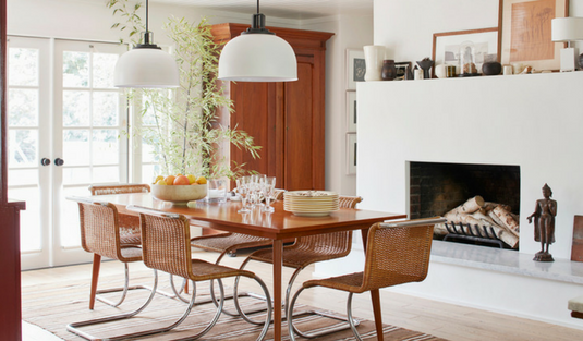 A Modern Country Style Home with Very Contemporary Lamps