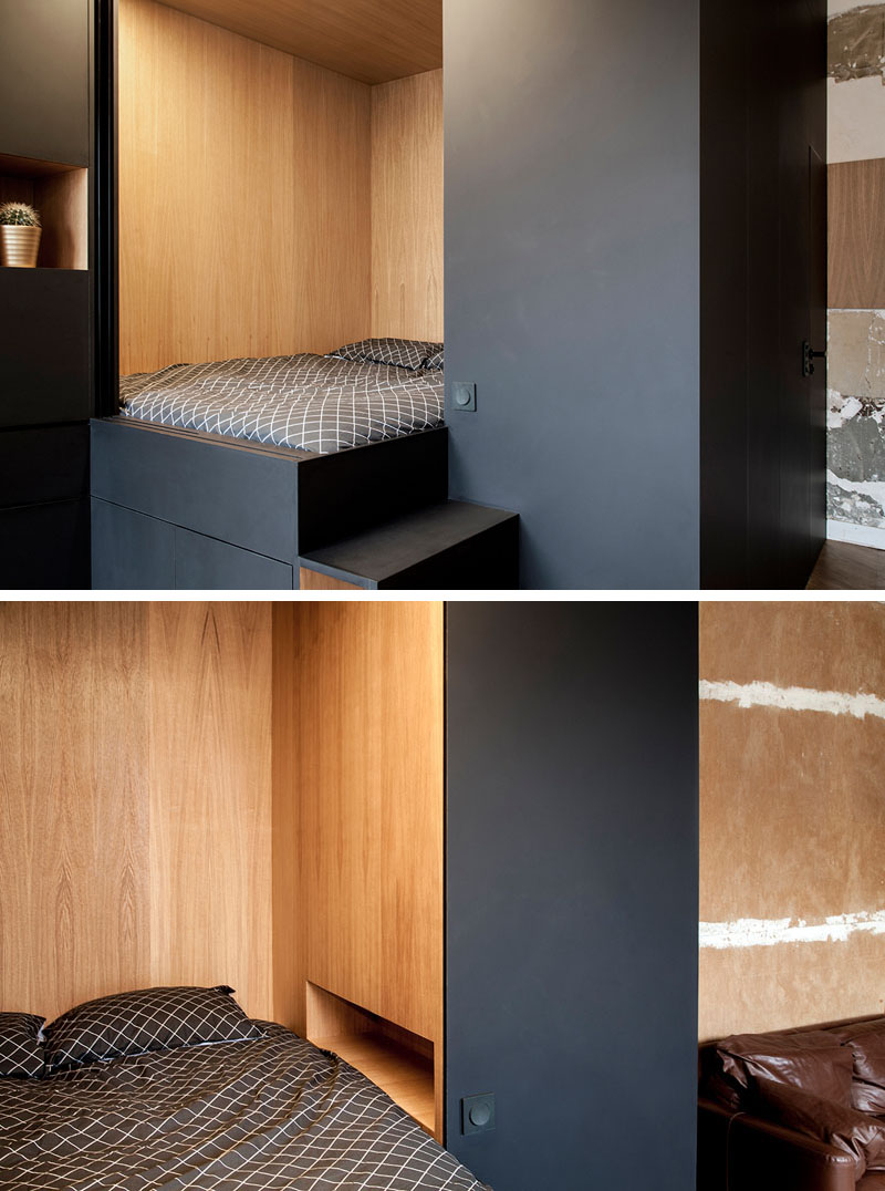 Custom Bedroom Design Box With Unique Contemporary Light 2