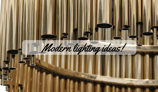 Modern Lighting Ideas_ Golden Everywhere!