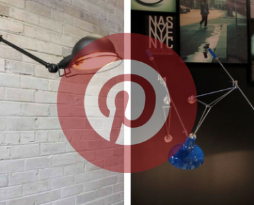 What is Hot on Pinterest: Big Wall Lamps