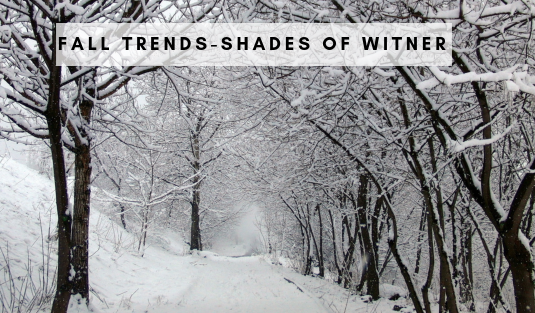 fall trends Fall Trends – Shades Of Winter shade winter