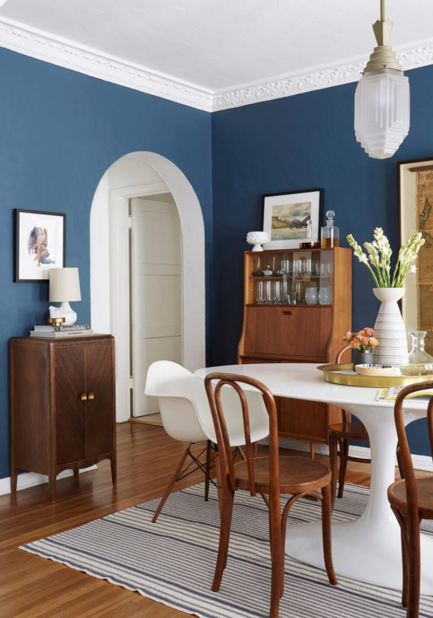 5 Blue Vintage Dining Rooms You'll Fall For! blue vintage dining rooms 5 Blue Vintage Dining Rooms You'll Fall For! 1 7