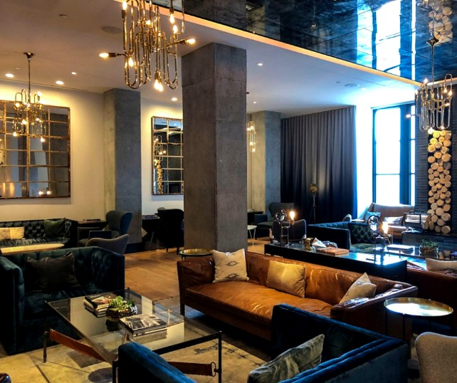 inspiring modern living room decoration Inspiring Modern Living Room Decoration You'll Fall For! Hotel Van Zandt by Markzeff Clark suspension