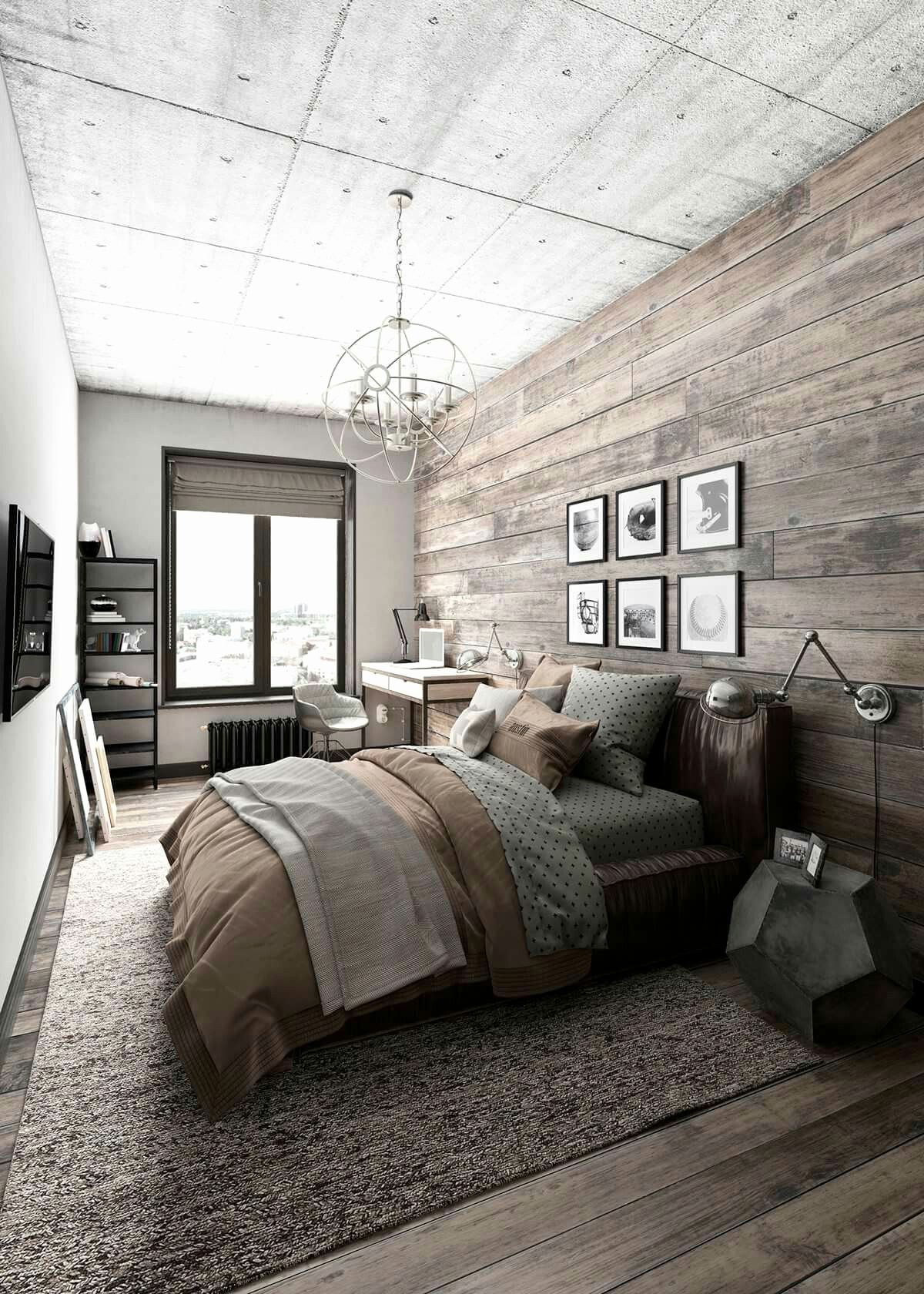 industrial bedroom industrial bedroom Decorate Your Industrial Bedroom With A Pendant Lighting Piece! Decorate Your Industrial Bedroom With A Pendant Lighting Piece 1