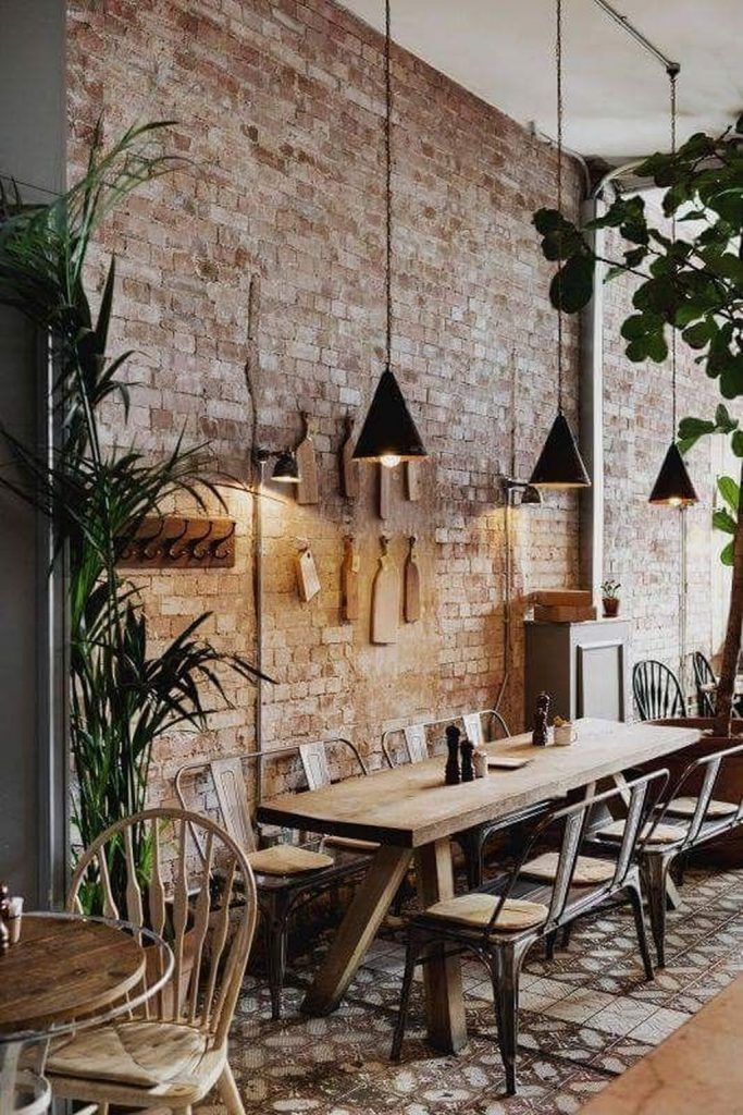 industrial dining room Industrial Dining Room Decor With These Mid-Century Lamps! lovely villa interior design ideas to scale up your E32652bfd61aced900688454ba878b64c 683x1024